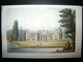 Ackermann C1815 Hand Col Print. Avington Park, Hampshire, UK